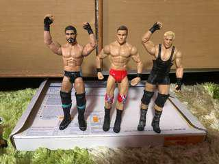 WWE Mattel figure Austin Aries&Drew Mcintyre& Jack Swagger
