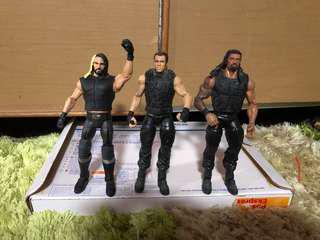 WWE Mattel figure Elite 'The Shield' Seth Rollins&Dean Ambrose&Roman Reigns