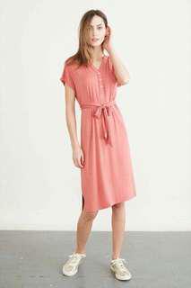 Polo dress waisted belt