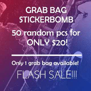FLASH SALE - GRAB BAG STICKER BOMB 50 PCS