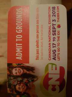 CNE Free Admission