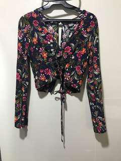 Topshop Boho cropped top (used once)