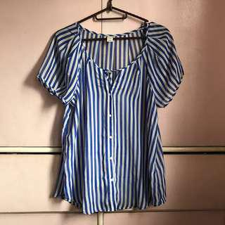 Old Navy sheer stripes top