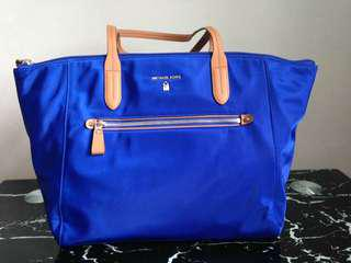 Michael Kors Large Electric Blue Nylon Kelsey Bag