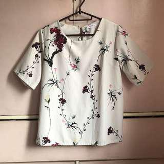 Korean floral blouse