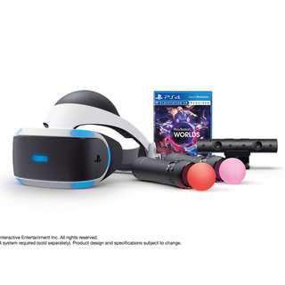 BRAND NEW 2 GAMES 2 MOVE FREE AND VR Version 2 + Camera + 2 x Move Controllers + 2 X Game VR 5 World & GT Gran Turismo Sport Sony PlayStation VR With WARRANTY Virtual Reality With PlayStation Camera Play Station PS4 PS 4 Game Gaming Fat Slim Pro