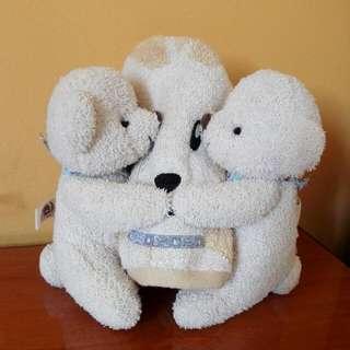 Brand New Milton Home Bears And Towel Gift Set