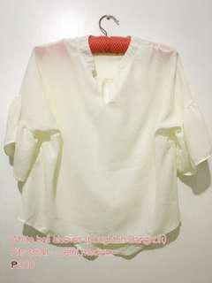 Bell Sleeved White top