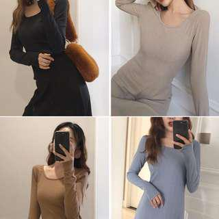 Korean knitted Long sleeve Dress [♛ PREMIUM EXCLUSIVE ♛]
