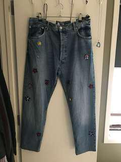 Brand new topshop mom jeans