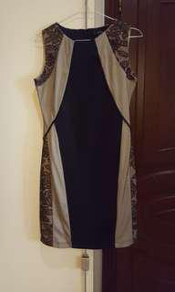 Black Lace Dress Midi