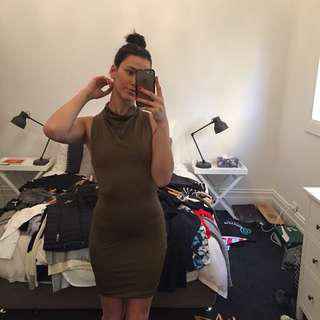 Tigermist bodycon high neck dress