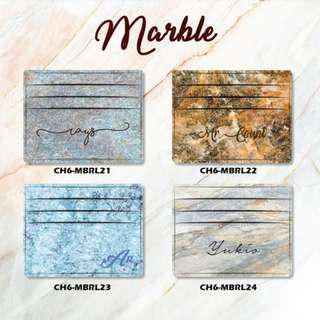 Custom Card holder design Marble 6