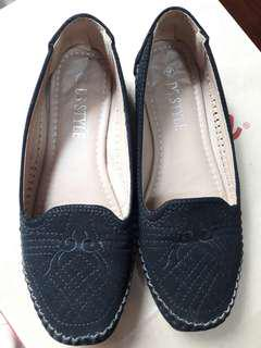 Loafers in black - cloth