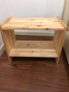 Wooden short side table