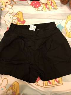 h&m 黑色 夏天短褲