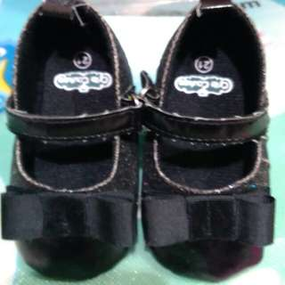 Crib Couture Black Soft Sole Shoes