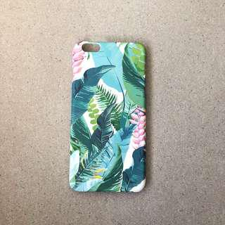 🚚 Light Tropical Leaves Pattern iPhone Case