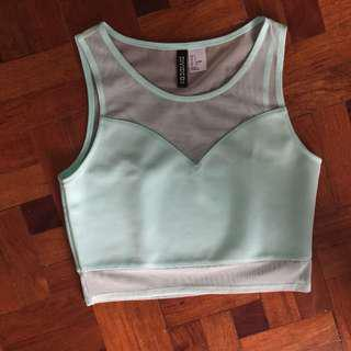 Mint sweetheart crop top