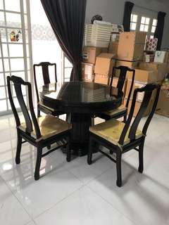 🔥Moving Out Sale🔥 Rosewood Dining Table & 5 Chairs