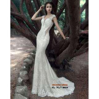 Wedding Collection - Noble Generous Rome Princess Mermaid Wedding Gown