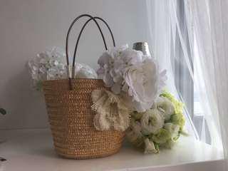 New Romantic Straw Bag