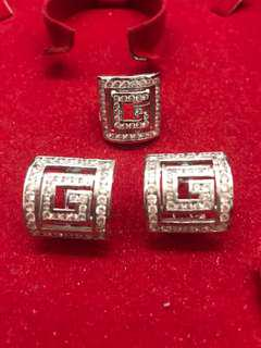 White Gold Jewelery Set