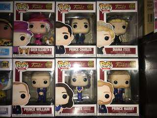 Funko Pop Royals Complete Set of 6