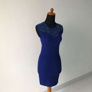 Body & Soul Navy Bodycon Dress