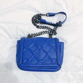 ZARA Trafaluc Blue Chain Bag