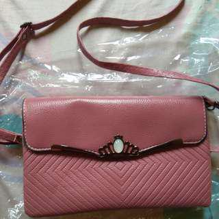 Tas/clutch darkpink