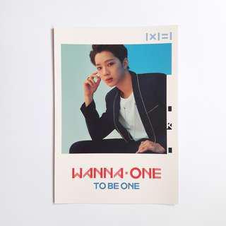 wanna one lai guanlin pop-up store postcard