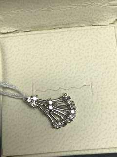 White Gold Diamond Pendant for Women 18K