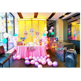 LOL SURPRISE Themed Birthday Party (Party Supplies) Pls CHAT with us for the detailed/specific product listing & price.. We Have wide range of stocks pre printed & personalized printables…