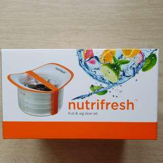 nutrifresh fruit & veggies slicer set 刨絲器 食物切割器