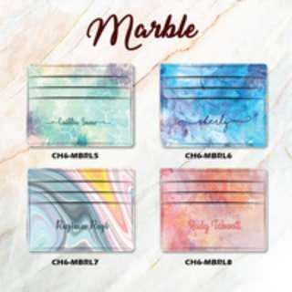 Custom Card Holder design Marble 2