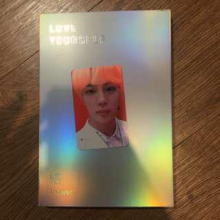 [Ready Stock] BTS LOVE YOURSELF 結 'Answer' S version Jin Photocard