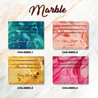 Custom Card Holder design Marble 1