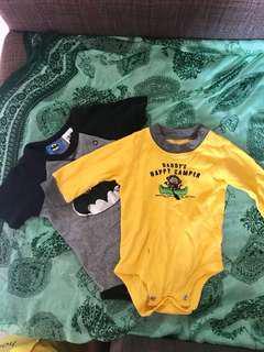 Bundle 14: 2 baby boy infant onesies