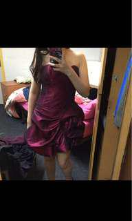 Maroon cocktail dress size 10