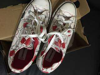 Chuck Taylor All Star White with Red Prints