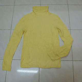 Knitwear Yellow Turtleneck Vintage