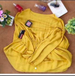 Long Sleeves Chiffon Jubah Dress