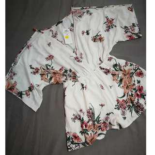 Terranova Off shoulder Floral Playsuit (with price tag)