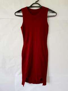 Maroon Knitted Dress