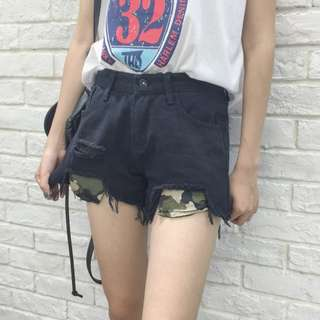 🔥READYSTOCK🔥 Brand New High Waisted Ripped Black Shorts