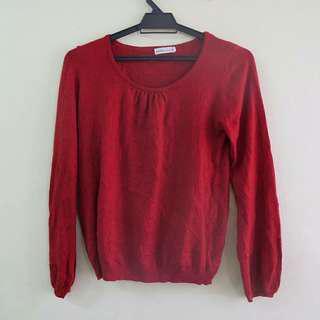 Red Knitwear Vintage Ladies