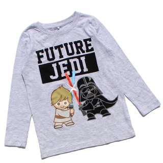Long sleeve Star Wars 7yrs old boy cotton tshirt authentic Star