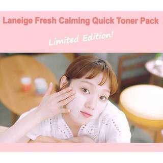 Laneige fresh calming toner pack