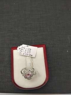Pink Sapphire Fancy Multi White Gold Diamond for Women Ring 18K